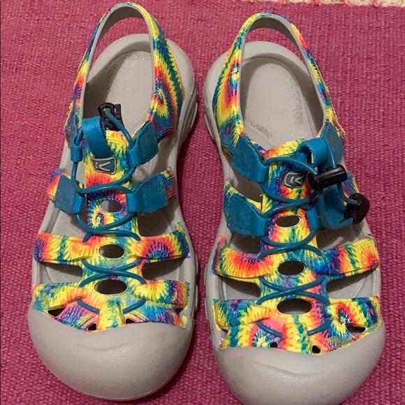 Kids Keens Waterproof Tie Dye Sandals